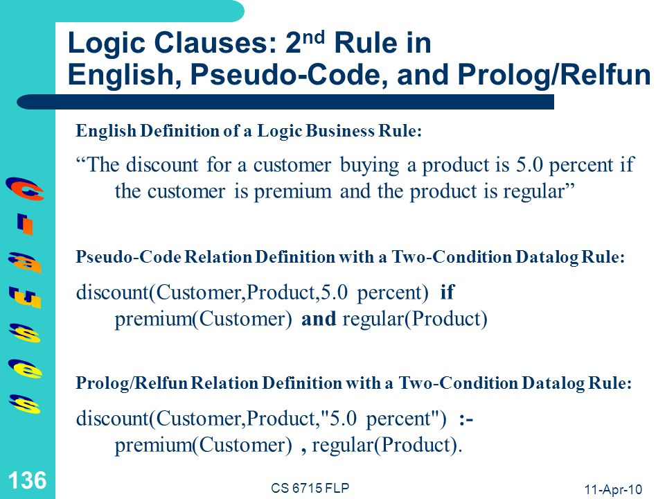 Logic Clauses: A Non-Ground Call Resolved via Unification and Subcalls (I)