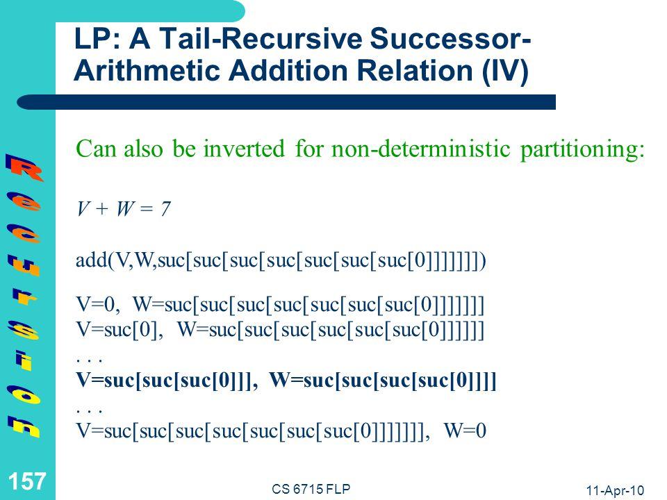 LP: An Equivalent Successor-Arithmetic Addition Relation (I)
