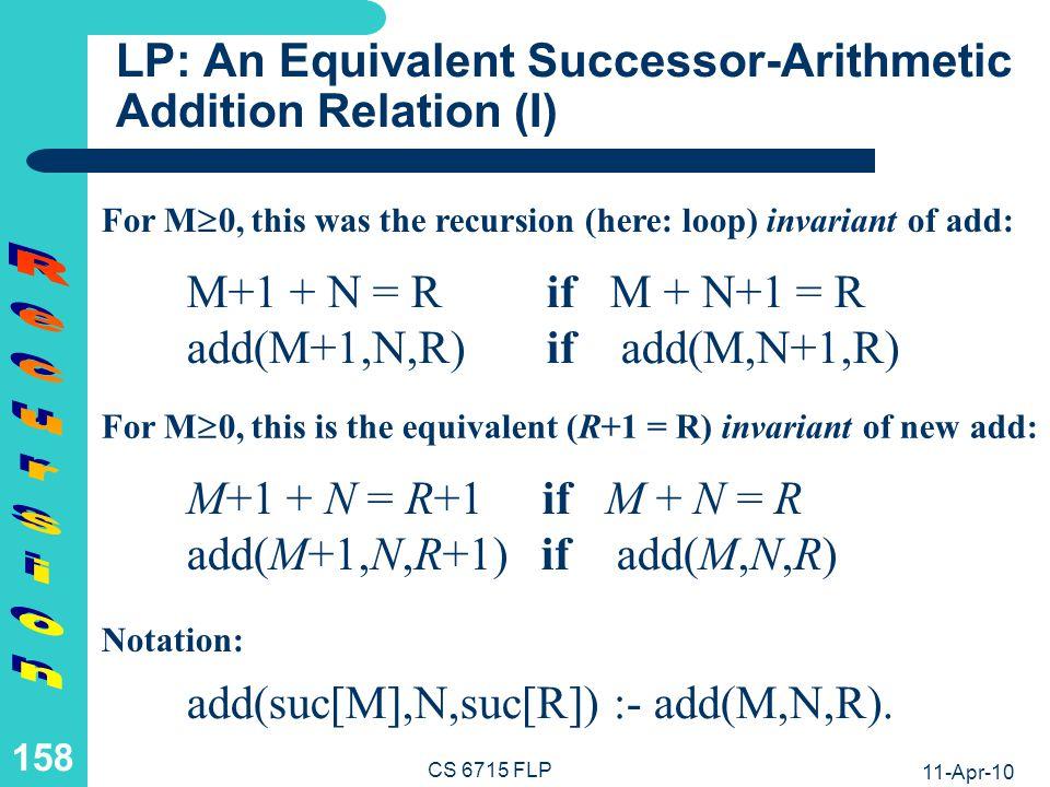 LP: An Equivalent Successor-Arithmetic Addition Relation (II)