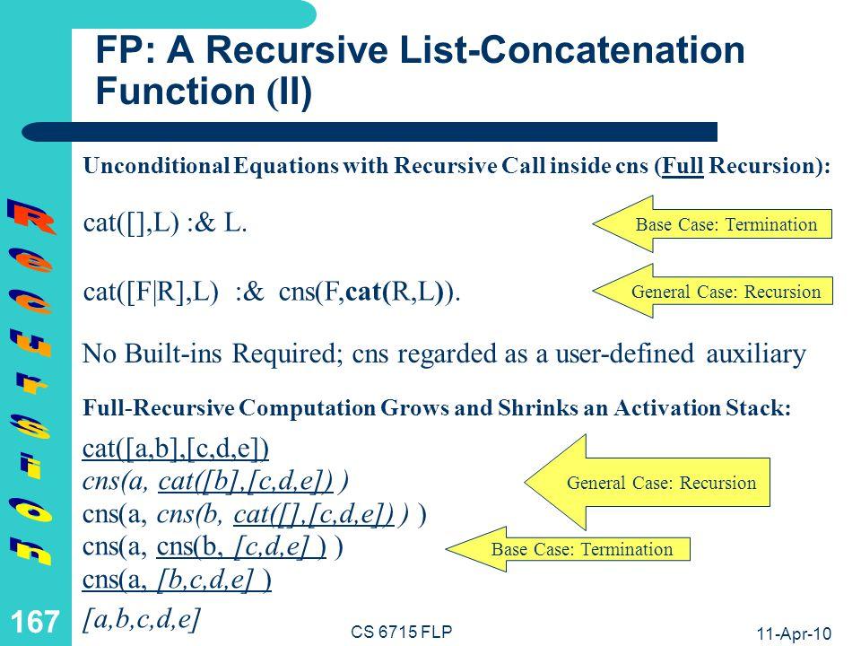 LP: A Tail-Recursive List-Concatenation Relation (I)