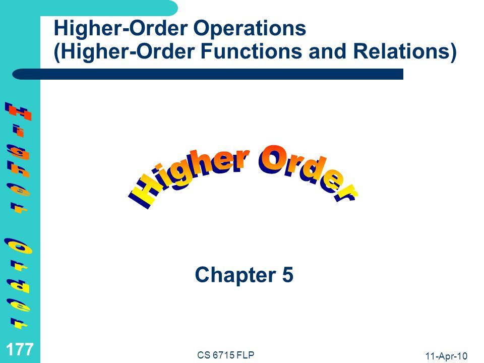 Higher-Order Operations: Operations as 1st-Class Citizens