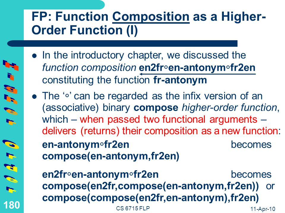 FP: Function Composition as a Higher-Order Function (II)