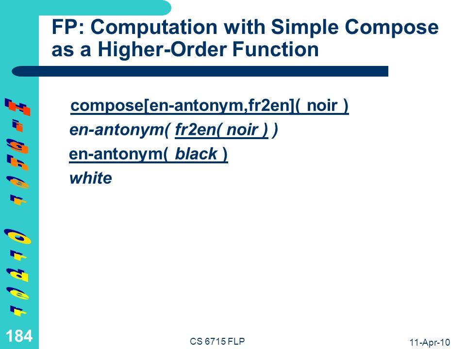 FP: Computation with Nested Compose as a Higher-Order Function