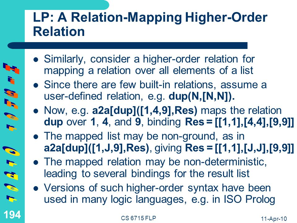 LP: Relation Variables as 2nd-Order Syntactic Sugar (I)