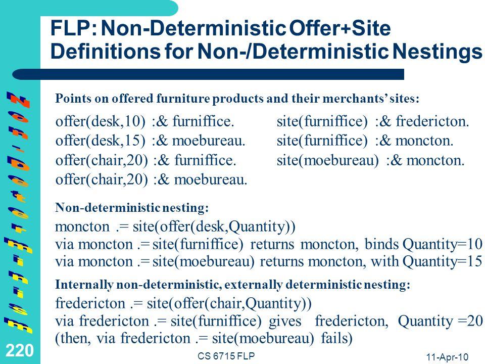 LP: Deterministic Site Definition for Deterministic Conjunction