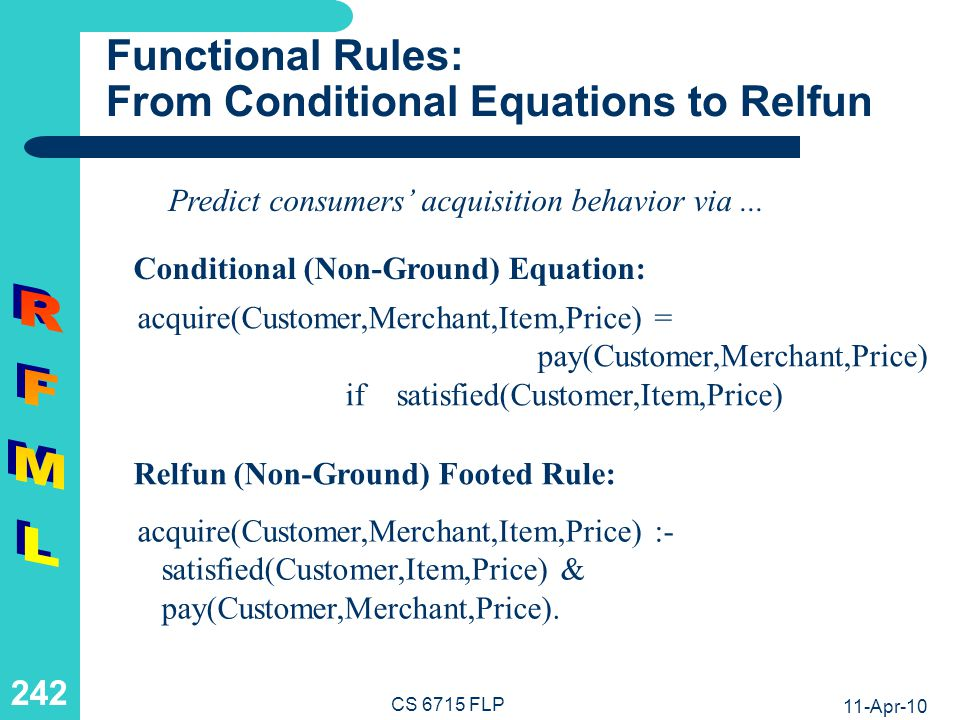 Functional Rules: From Relfun to RFML
