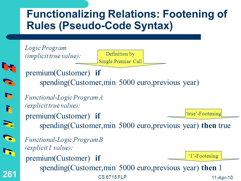 Functionalizing Relations: Footening of Rules (Relfun Syntax)