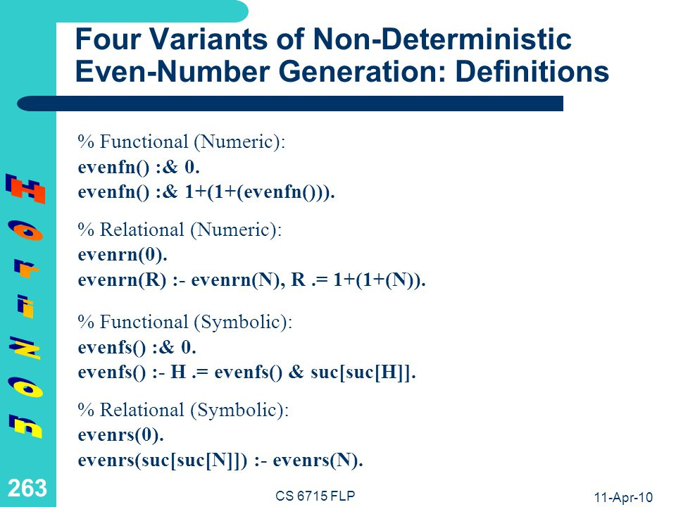 Four Variants of Non-Deterministic Even-Number Generation: Calls