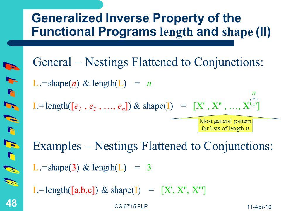 Generalized Self-Inverse Property of the Logic Program shalen