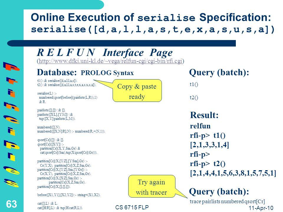 Principles Summary (Multi-)Directionality of declarative computation