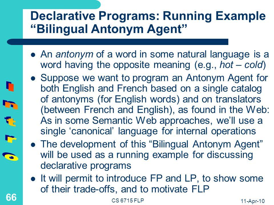Functional Programs: Basic Notions