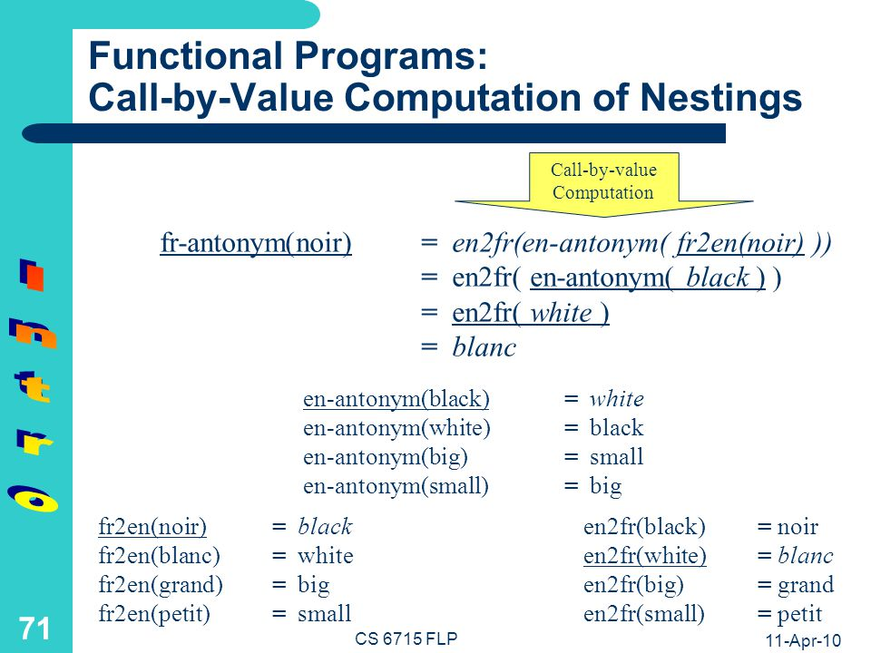 Functional Computation Example: Web Services
