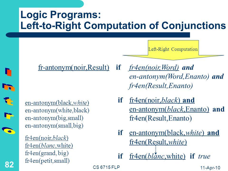 Logic Definition Example: Bidirectional French-English Translator