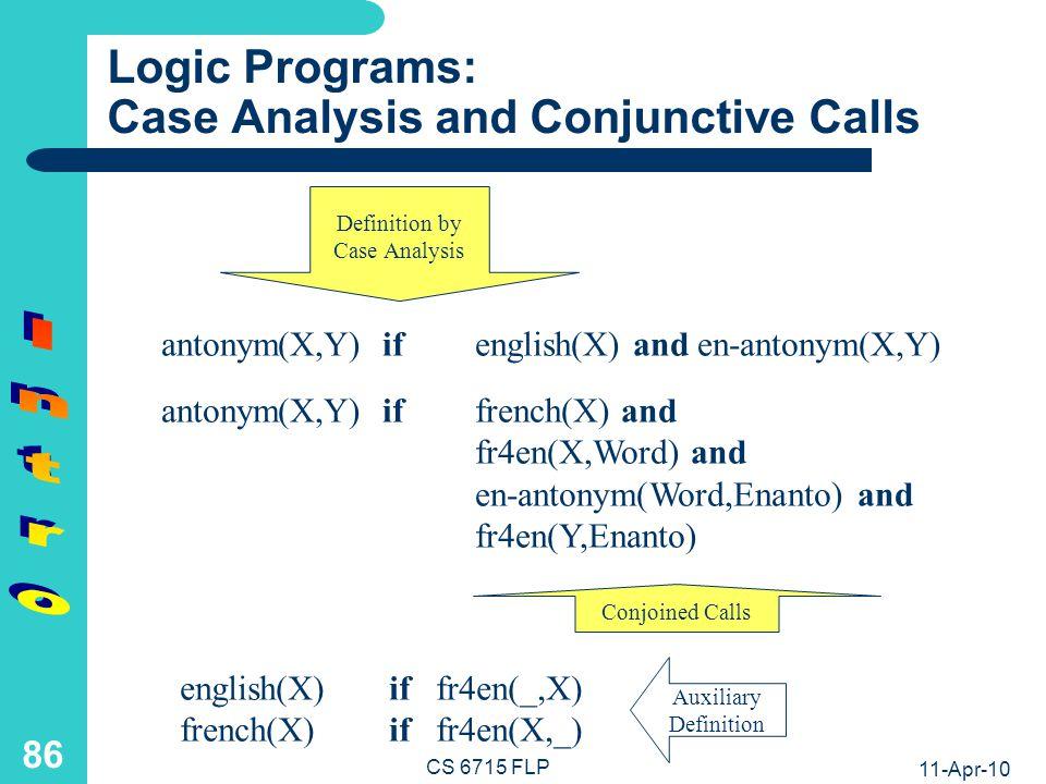 Logic Optimization Example: Generic Antonym Agent