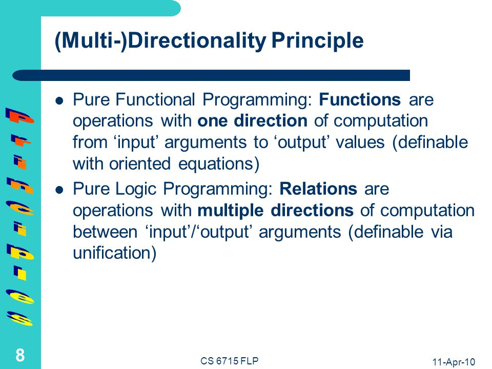 FP: LP: add add Principles Out Out In In In