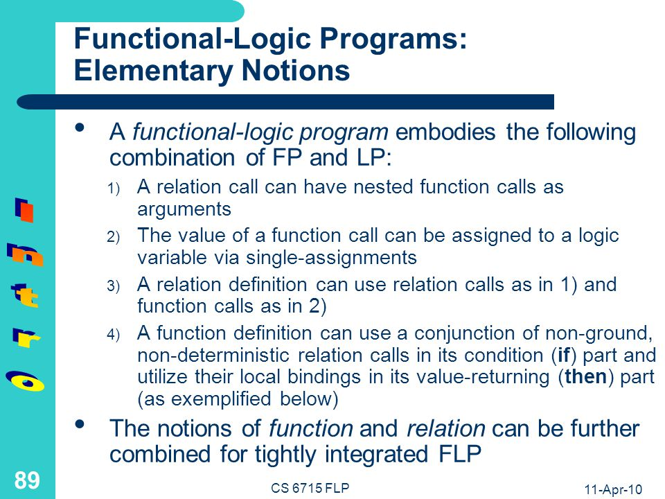 Functional-Logic Definition Example: Generic Antonym Agent