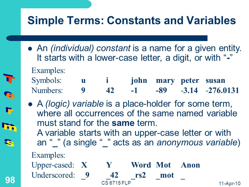Complex Terms: Structures