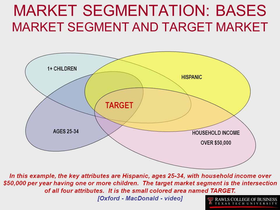 MARKET SEGMENTATION: BASES MARKET SEGMENT AND TARGET MARKET