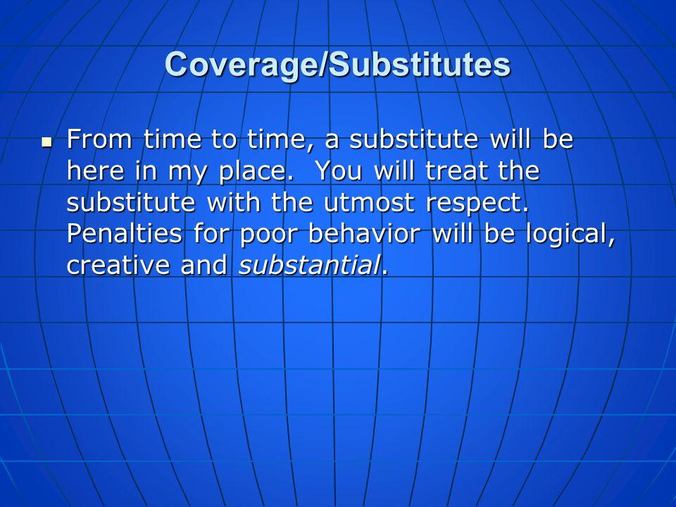 Coverage/Substitutes