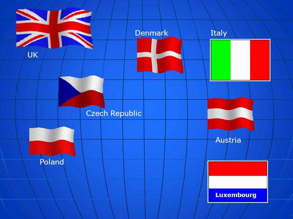 Denmark Italy UK Czech Republic Austria Poland Luxembourg