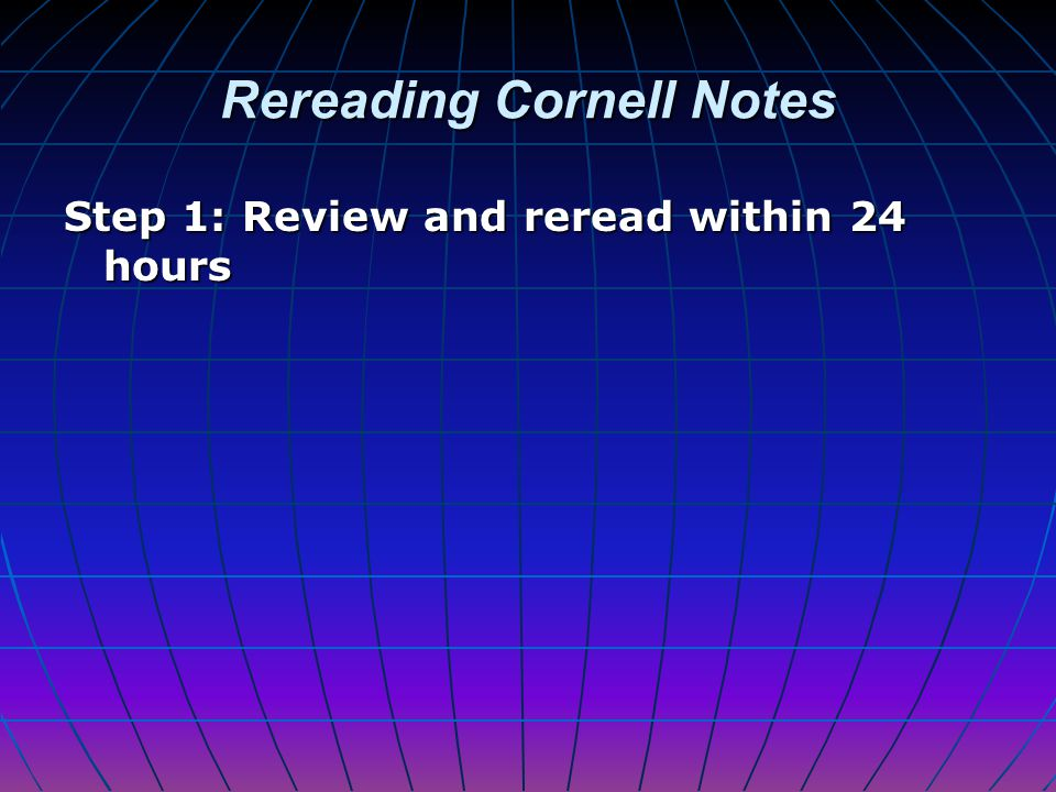 Rereading Cornell Notes