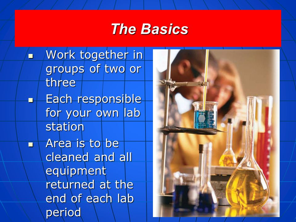 The Basics Work together in groups of two or three