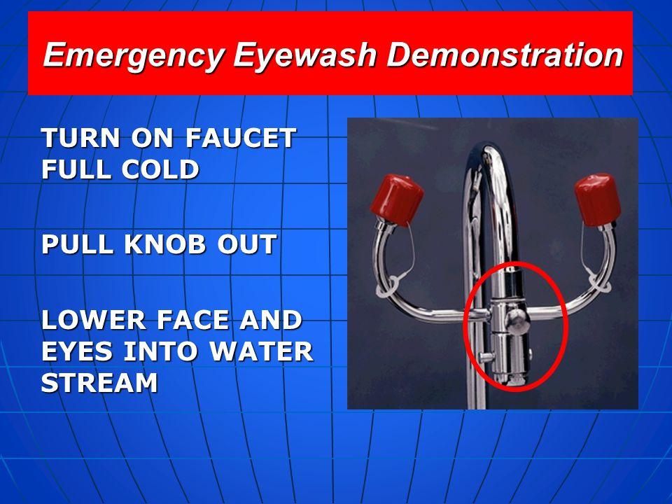 Emergency Eyewash Demonstration