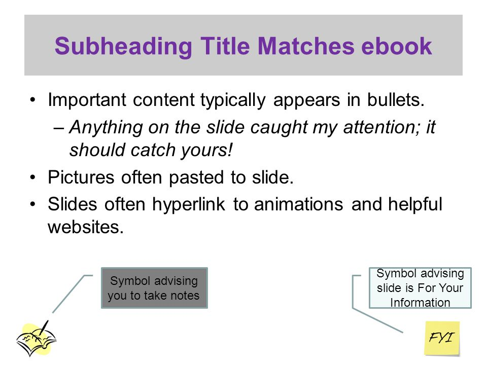 Subheading Title Matches ebook