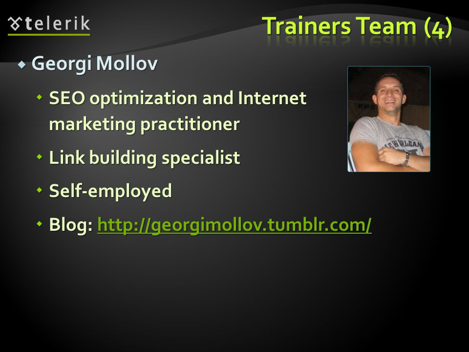 Trainers Team (4) Georgi Mollov