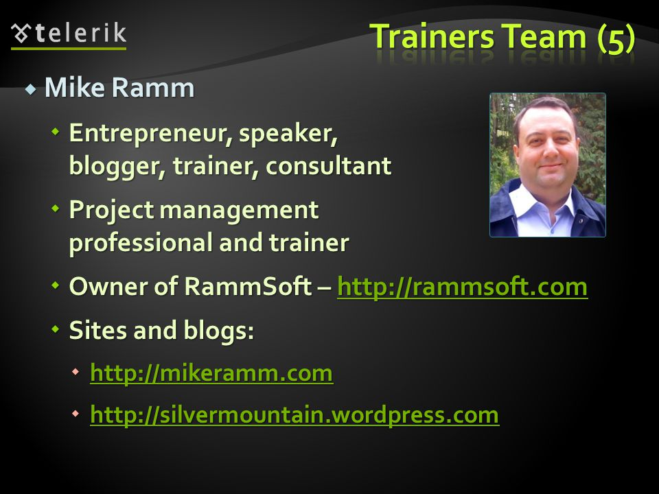 Trainers Team (5) Mike Ramm