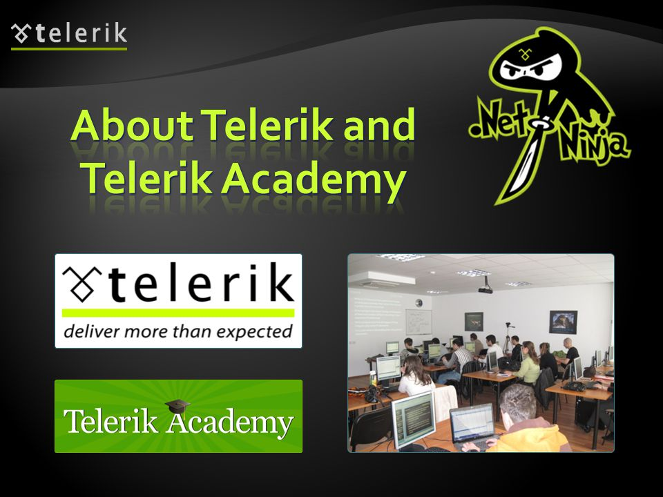 About Telerik and Telerik Academy
