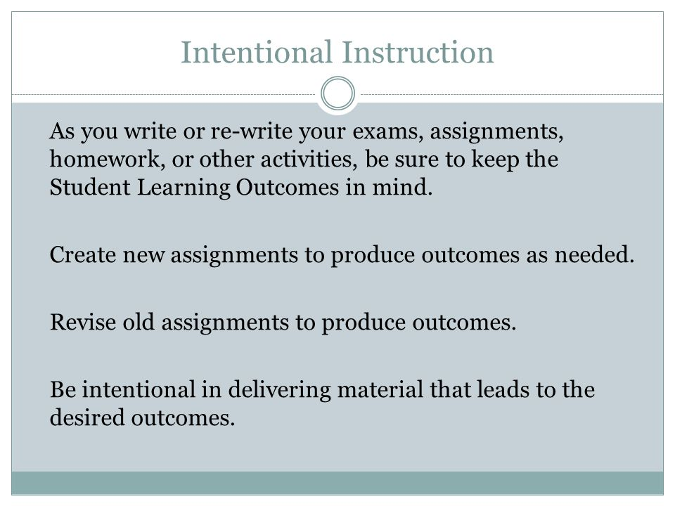 Intentional Instruction