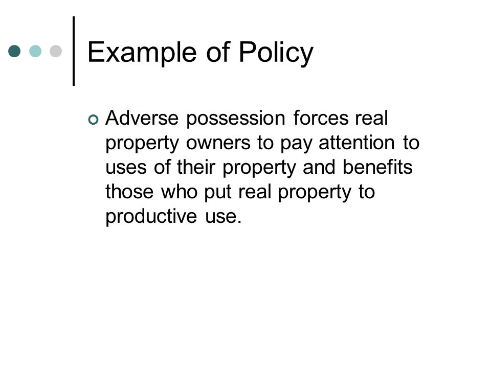 Example of Policy