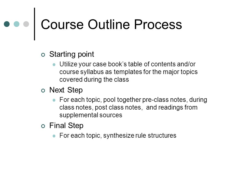 syllabus outline template