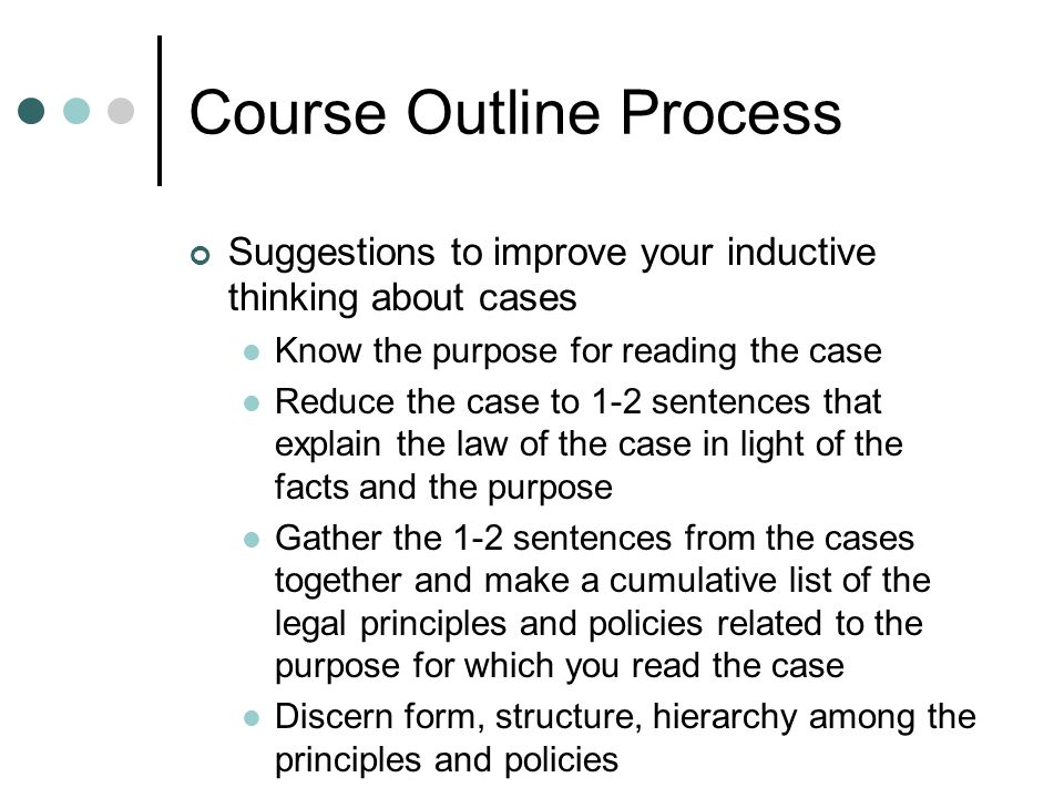 Course Outline Process