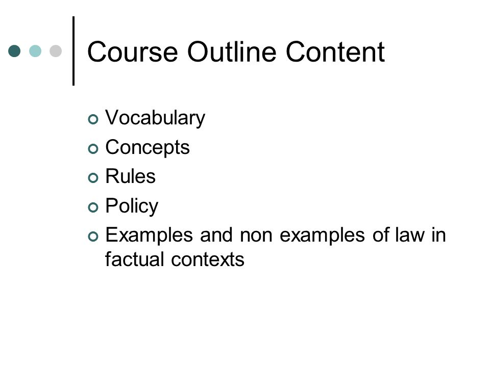 Course Outline Content