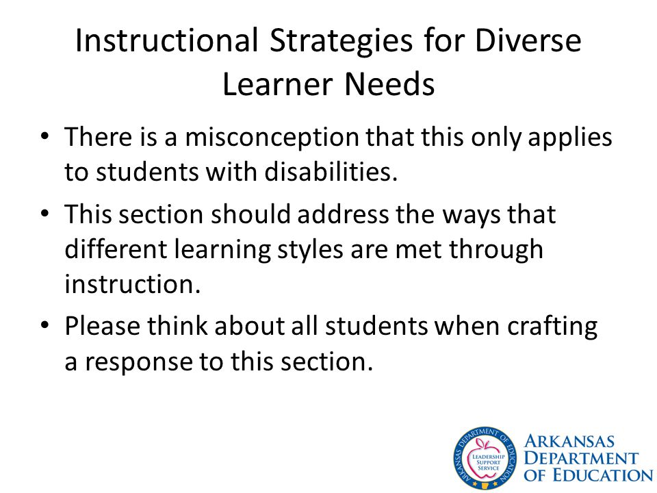 Instructional Strategies for Diverse Learner Needs