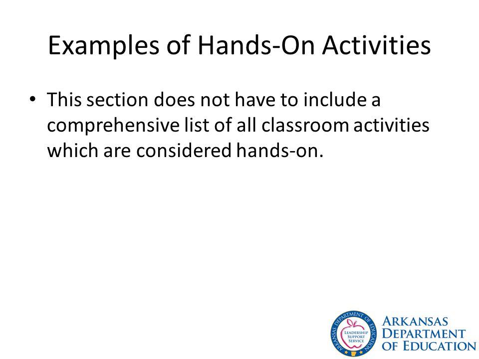 Examples of Hands-On Activities