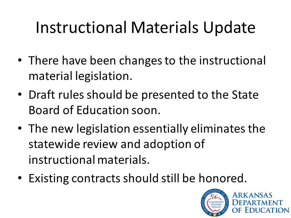 Instructional Materials Update