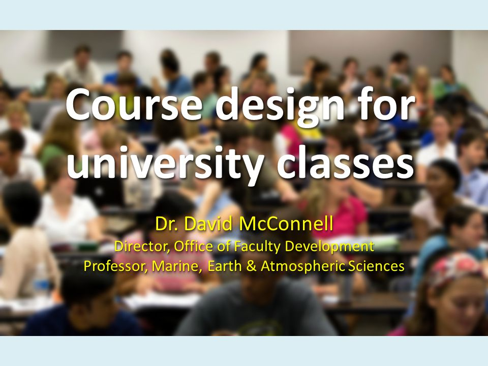Course design for university classes