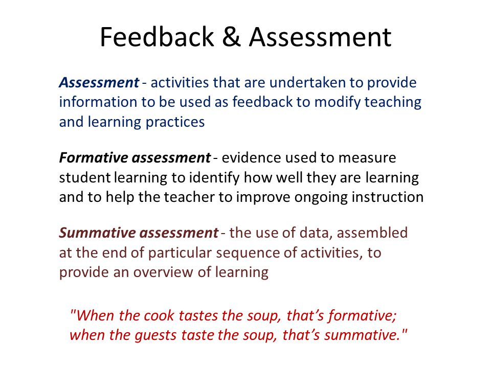 Feedback & Assessment