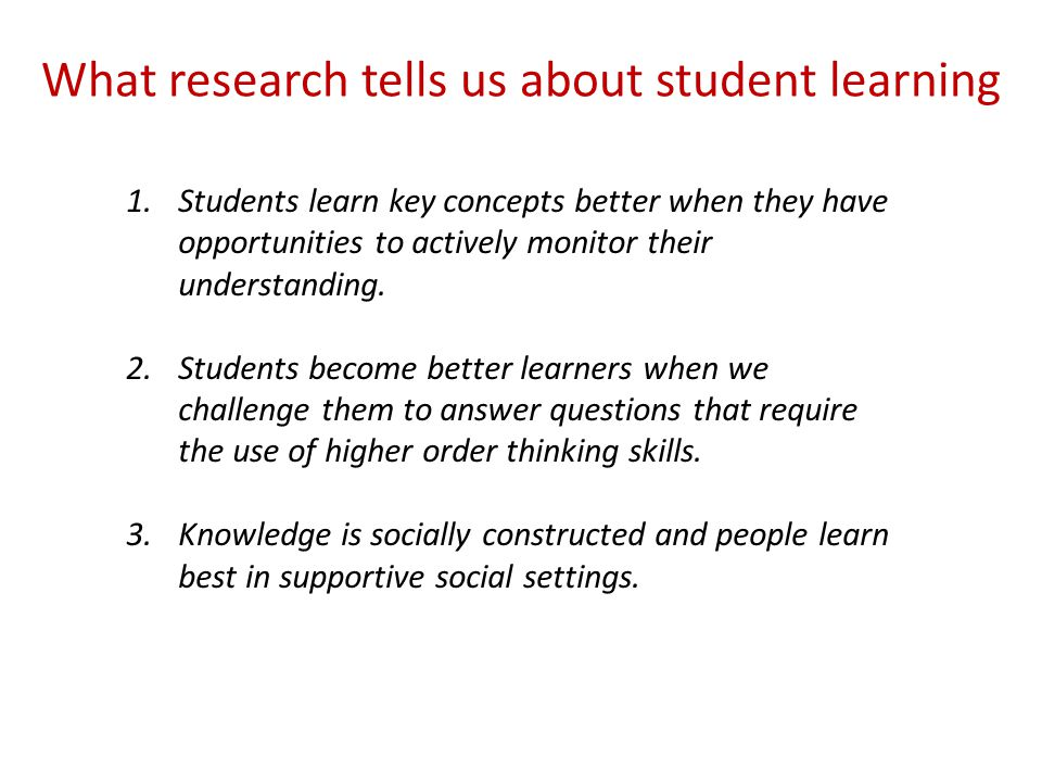 What research tells us about student learning