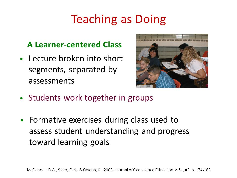 A Learner-centered Class