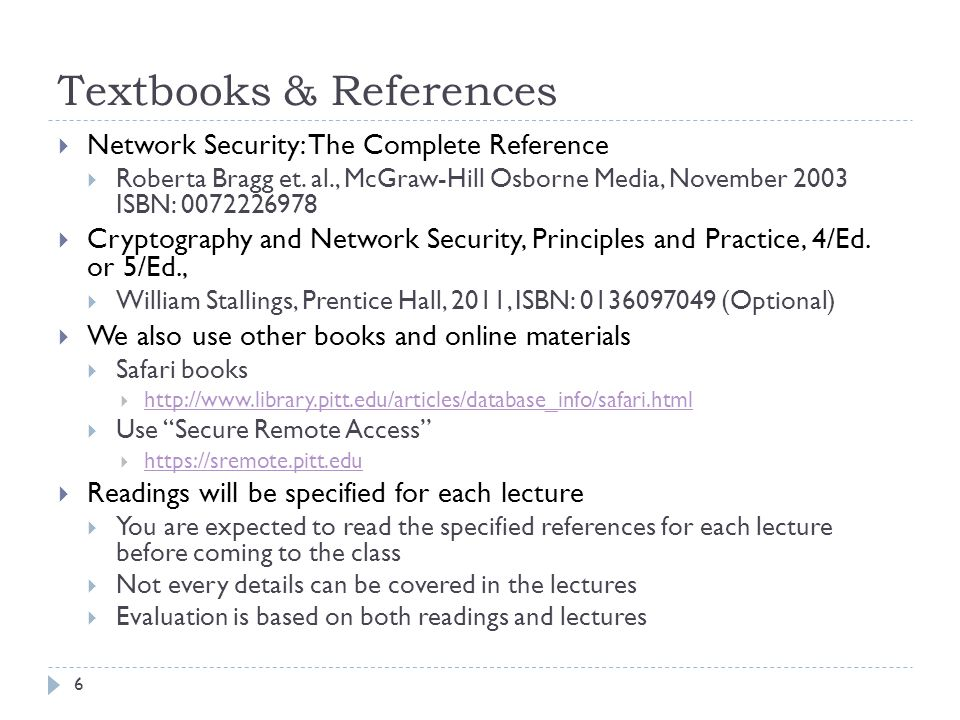 Textbooks & References