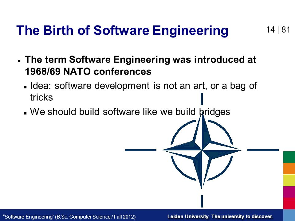The Birth of Software Engineering