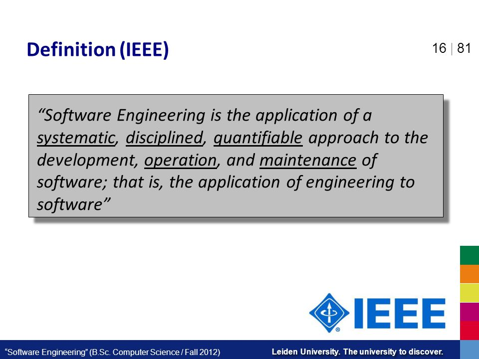 Definition (IEEE)