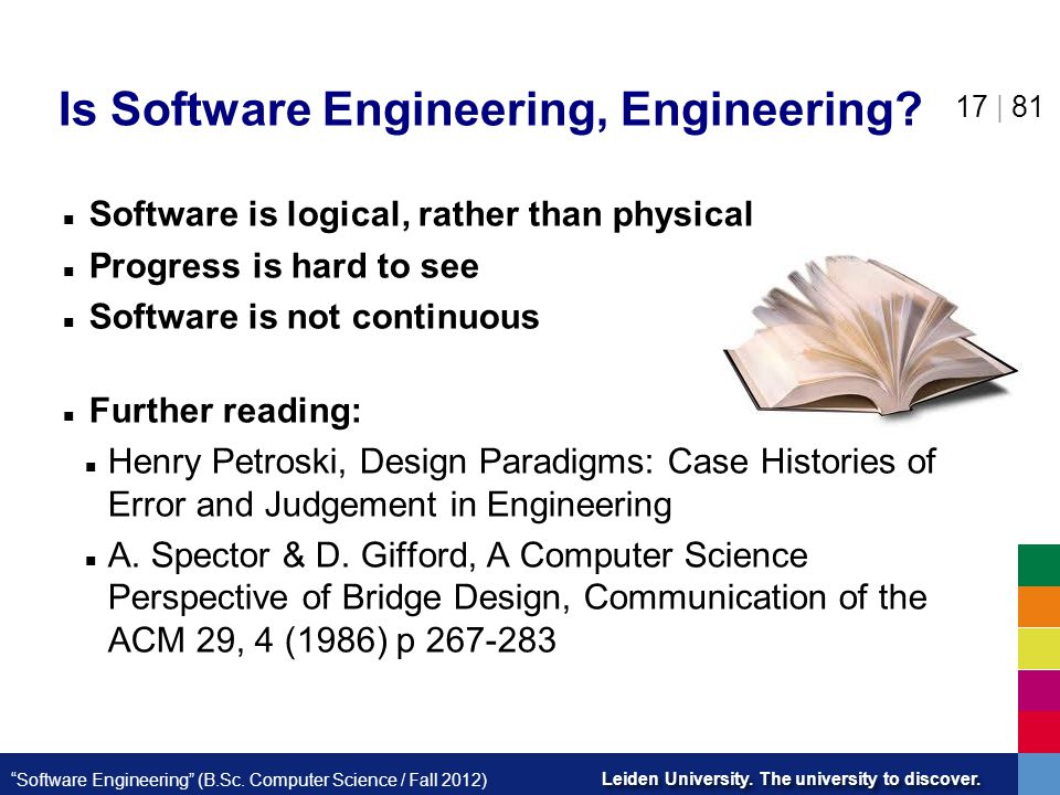 Is Software Engineering, Engineering