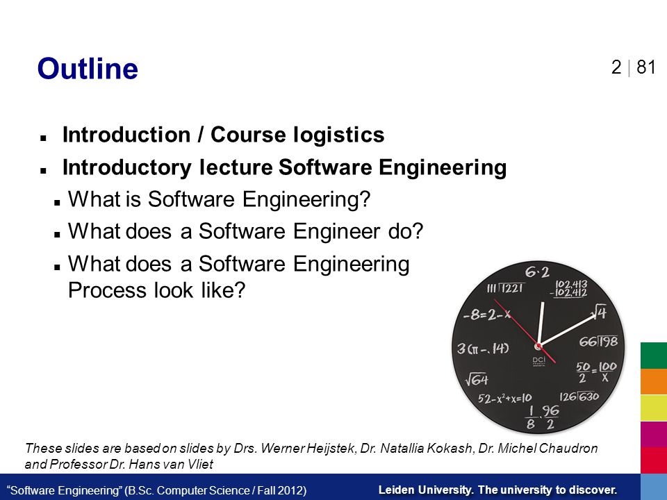 Outline Introduction / Course logistics