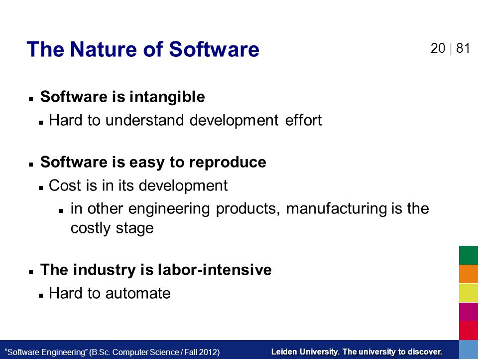 The Nature of Software Software is intangible