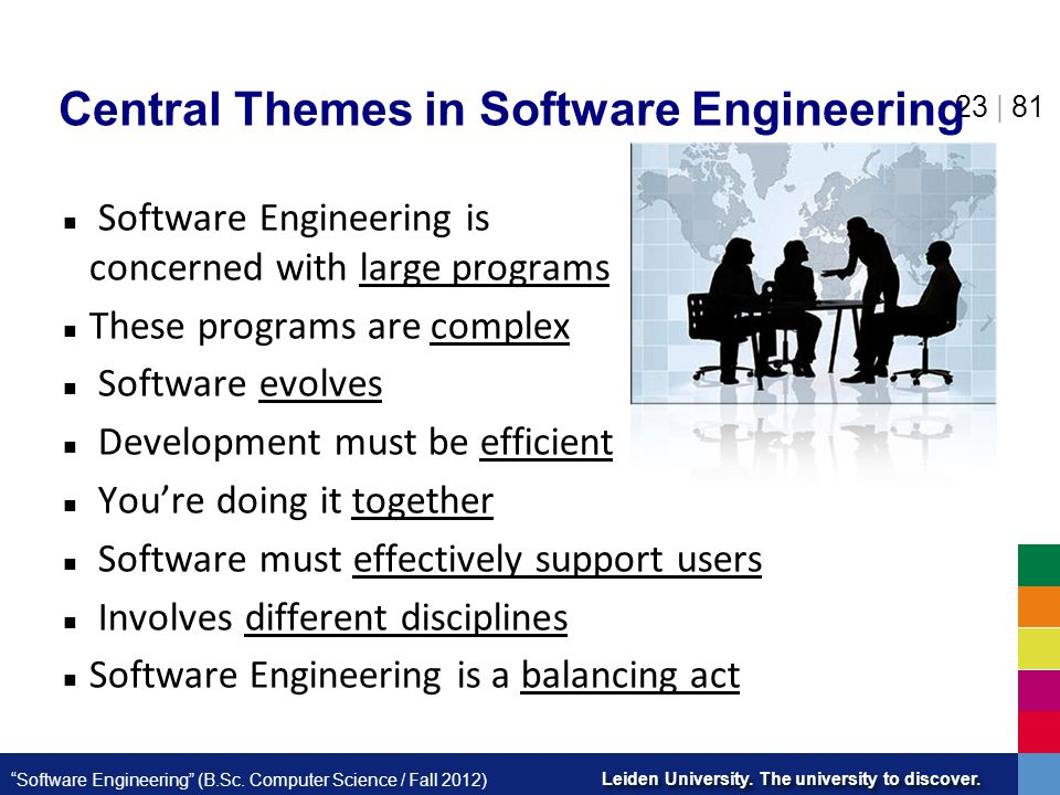 Central Themes in Software Engineering